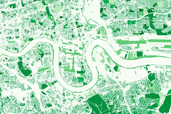 Greenspace visualization – the greenspace layer has been a popular dataset during lockdown used by consumers and for health analysis.