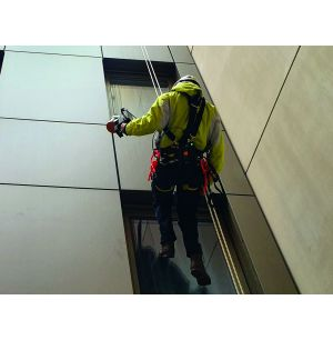 Abseiling with a Handheld Scanner