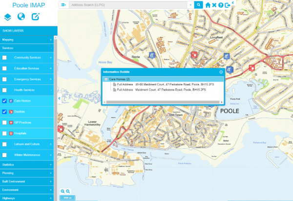MapThat's Report It platform was installed for Poole's public-facing website, allowing residents to report incidents on a map.