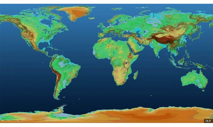 Height Map Of The World Satellites Create 3D Height Map of Earth | Geomatics World
