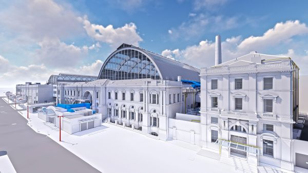 A BIM model of Olympia Exhibition Centre, London.